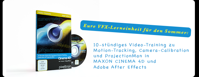 Cinema 4D – Deep Dive >> Camera-Tracking, Calibration & ProjectionMan