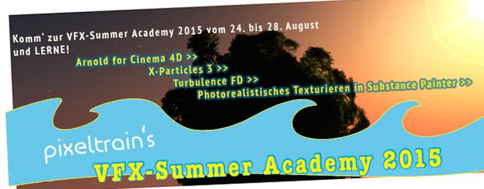 Komm' zur VFX-Summer Academy vom 24. bis 28. August 2015!