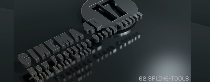 NewFeatures Cinema 4D R17 - Spline-Tool