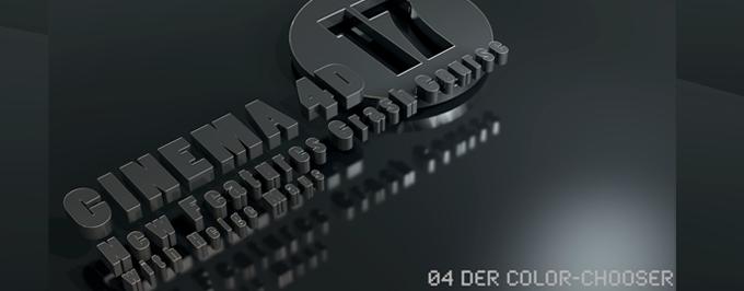 Color-Chooser, Variation-Shader und noch mehr New Features in C4D R17