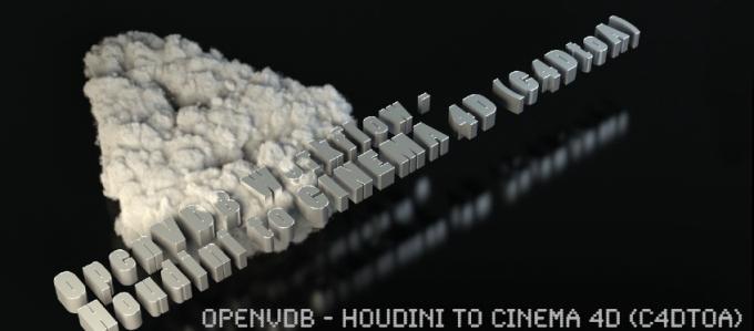 FREE Tutorial: OpenVDB – Houdini to Cinema 4D (C4DtoA)