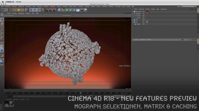 CINEMA 4D R18 – New Features Preview – MoGraph Selektionen, Matrix & Caching