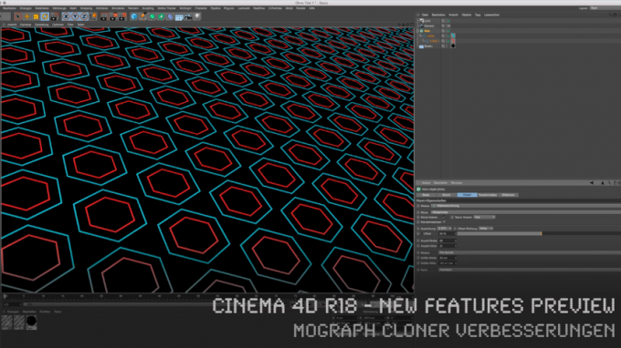CINEMA 4D R18 – New Features Preview – MoGraph Kloner Verbesserungen