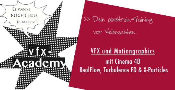 pixeltrain's VFX-Winter Academy mit CINEMA 4D