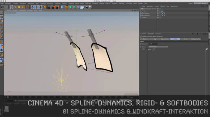 MAXON Cinema 4D – Spline-Dynamics, Rigid- & Softbodies