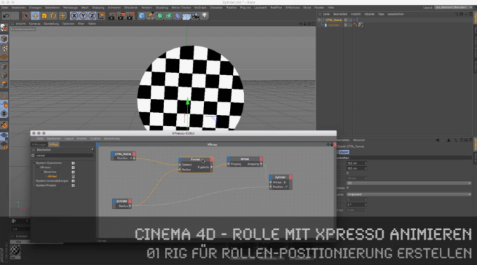 Cinema 4D-Tutorial: Rolle mit XPresso animieren