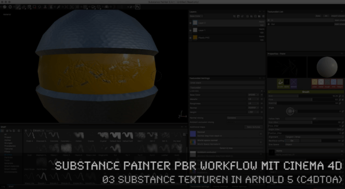 Video-Tutorial: PBR-Roundtrip zwischen C4D & Substance Painter