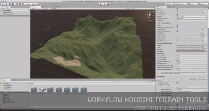 Tutorial: Workflow Houdini Terrain Tools for UNITY 3D Terrains